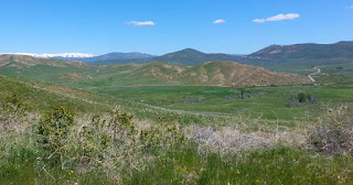 Idaho's Dixie Valley located below the mountain bike trail