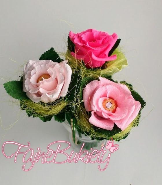 Róża z cukierkiem Ferrero Rocher