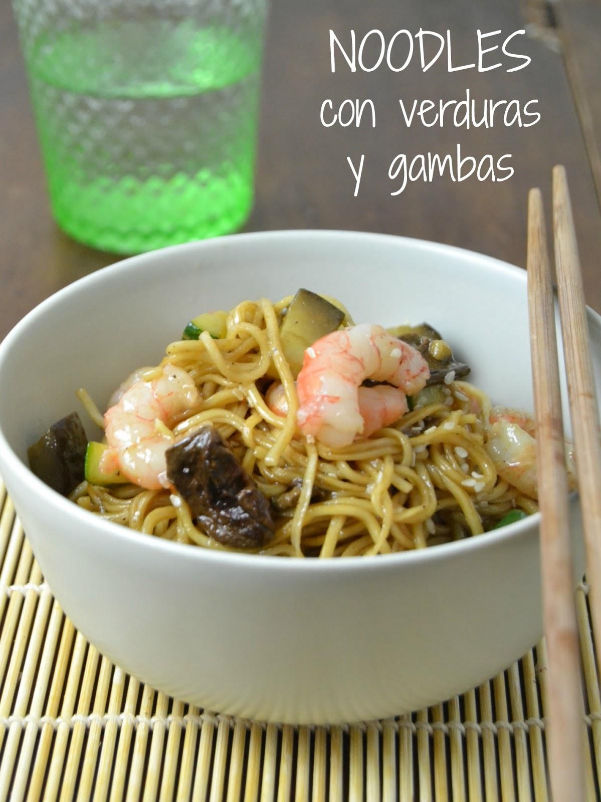 Noodles Con Verduras Y Gambas Cuuking Recetas De Cocina