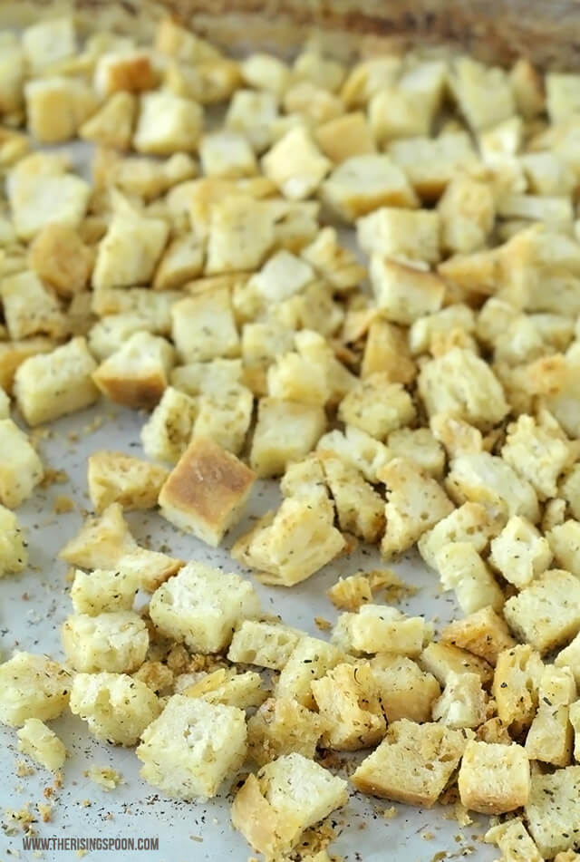 Thanksgiving Side Dish Recipe: Homemade Croutons for Stuffing & Dressing