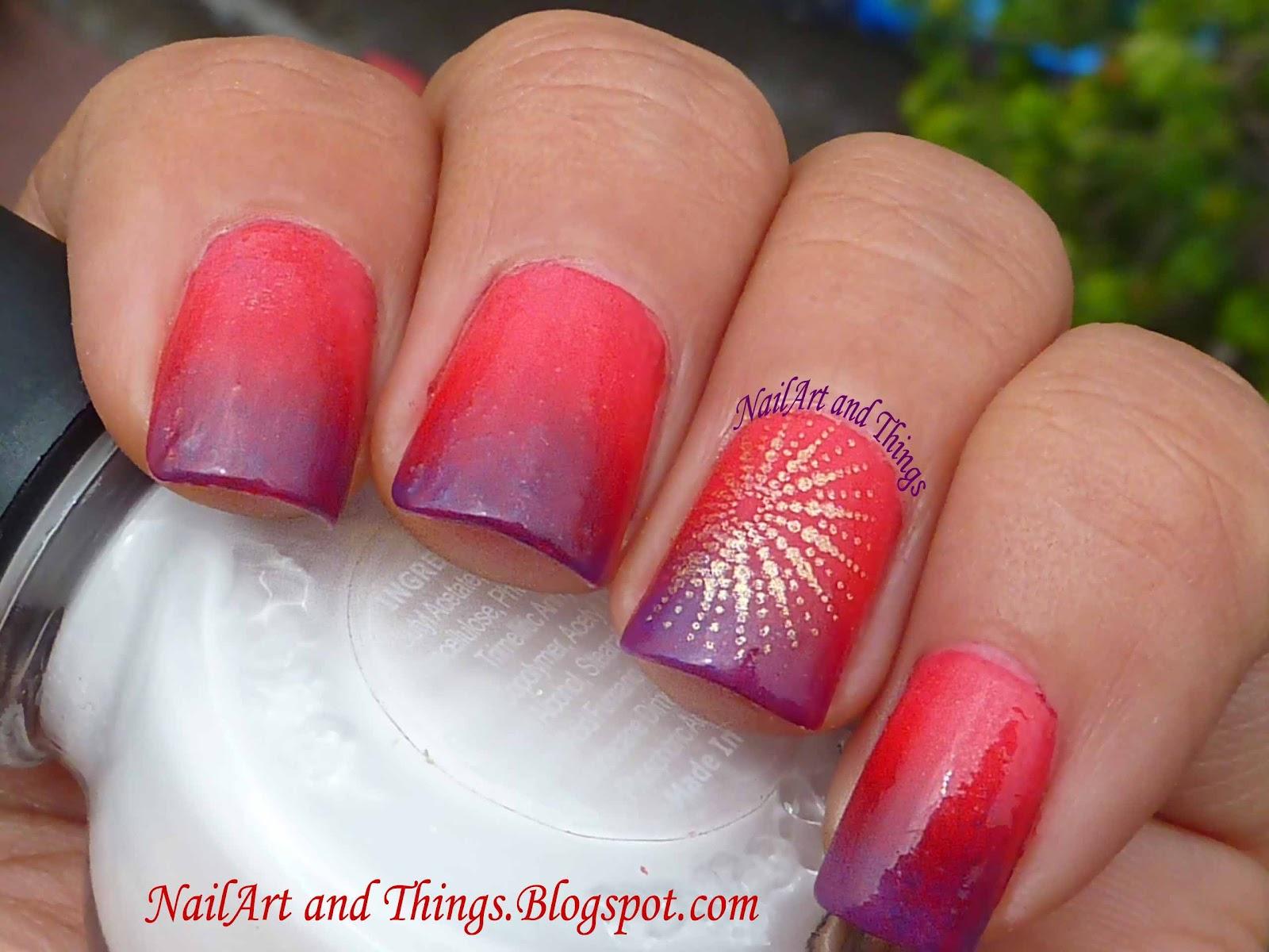 Nailart And Things: NailArt And Things: Sponging Nail Art: Using Lakme: Autumn