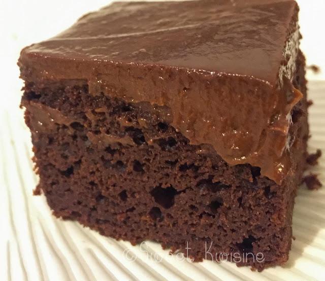 sweetkwisine, chocolat, brownie, sans lactose, avocat, végétarien, ganache à l'avocat