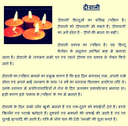 Happy Diwali Essay in Hindi