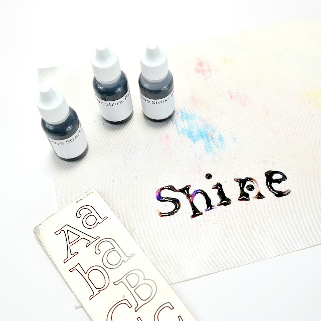 How to Dye Die-Cut Muslin Letters with ColorBox DyeStress Reinkers and Water