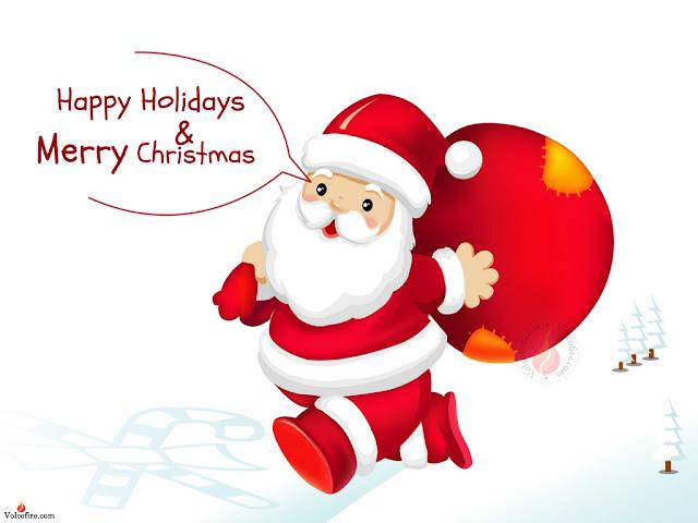 happy holiday merry xmas funny santa image