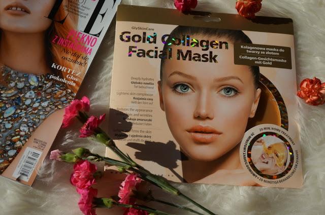 Kolagenowa maska do twarzy ze złotem GlySkinCare - relaks wieczorową porą