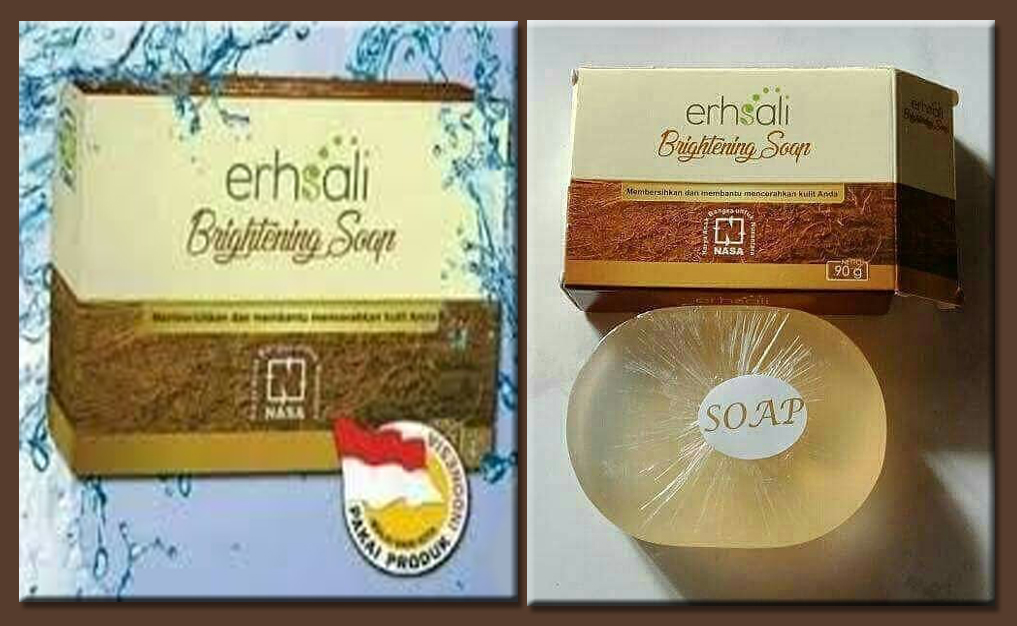 Erhsali Brightening Soap Nasa Wajah Cerah Alami Garda Remaja