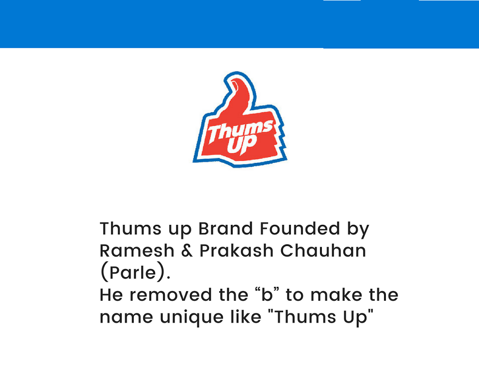 thums up brand facts