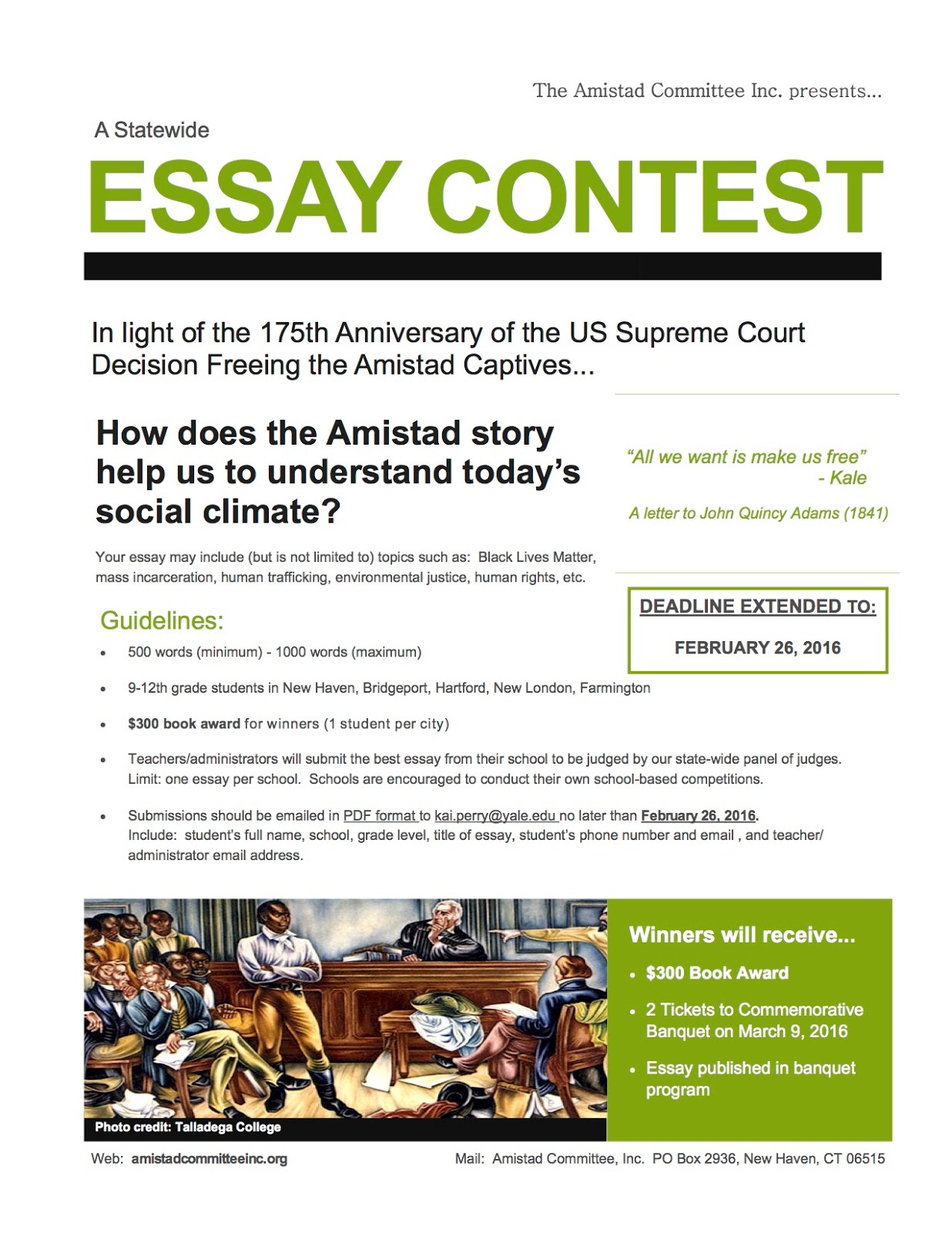 Amistad review essay