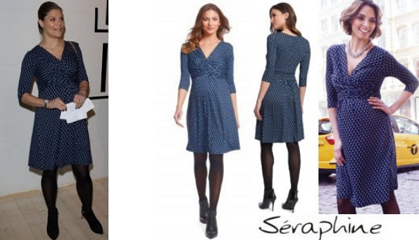 Princess Victoria's SERAPHINE Bubble Print Maternity Dress