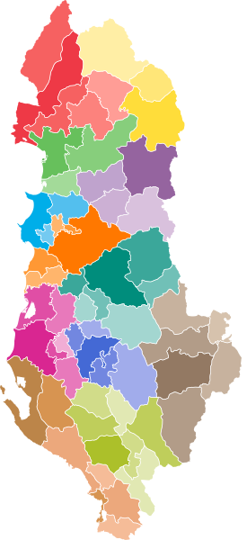 Pembagian wilayah administratif Albania