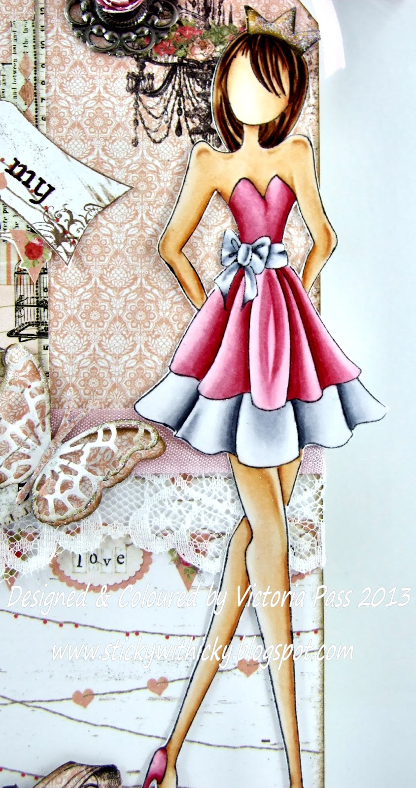 Sticky With Icky: My Crafty Heart DT Card........Doll On A Tag