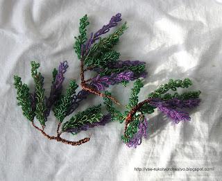 Дерево глициния из бисера. Мастер-класс