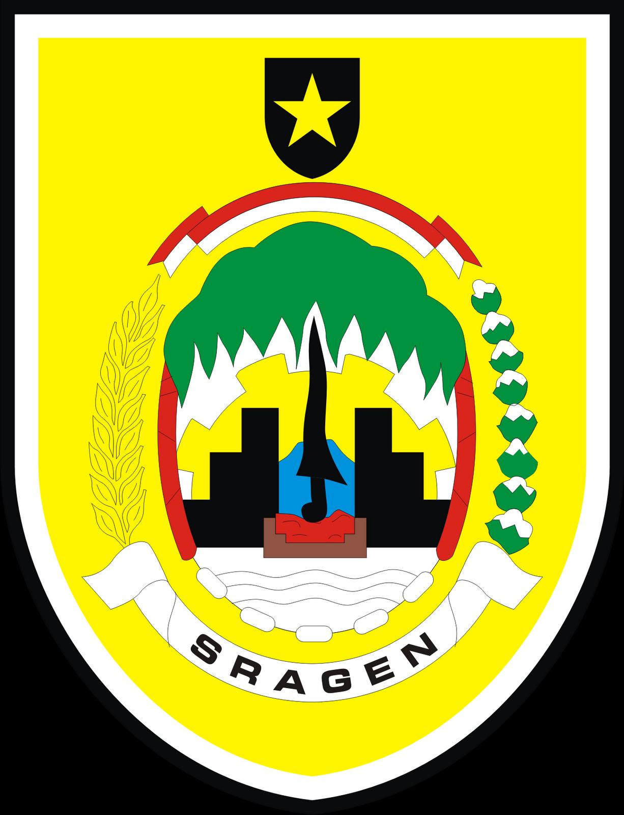 Logo Kabupaten Sragen Provinsi Jawa Tengah Logo Lambang Indonesia