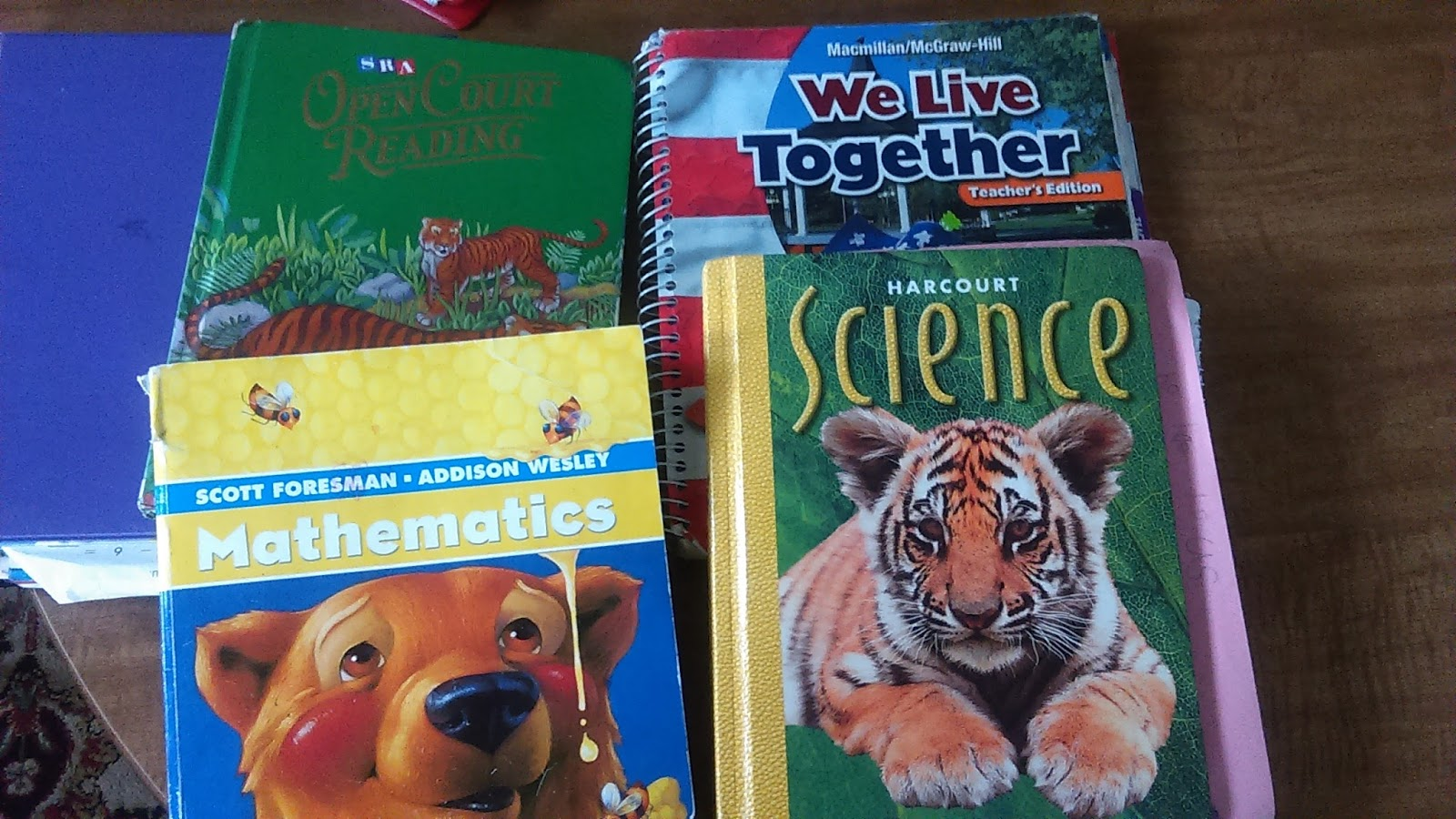 Ader Family Home School Here Are Some Of The Textbooks We
