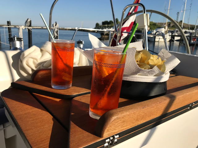 Aperol Spritz on the boat