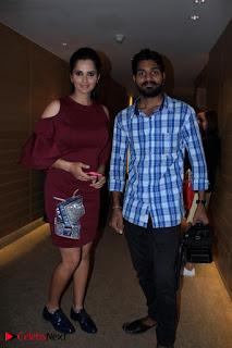 Indian Tennis Star Sania Mirza Pos in Red Short Dress at  0020.jpg