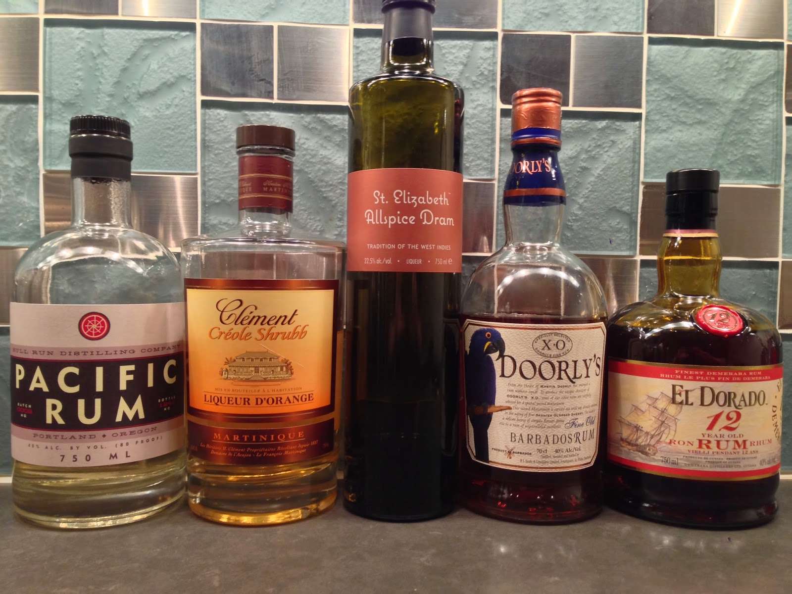 Rums from the Cocktail Wonk collection