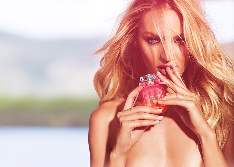 Candice Swanepoel smoulders for Victoria's Secret's Bombshell Fragrance Campaign 2017