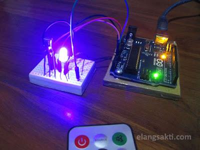 menyalakan lampu dengan remote control arduino