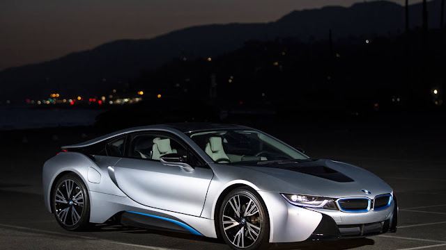 New 2016 BMW i8 Supercar More Power review front side view