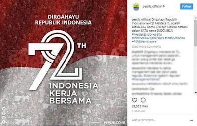 17 Agustus 2017 - Persib dan Persija Kompak Soal HUT RI ke-72