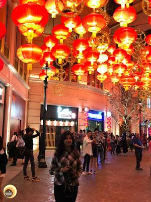 Anamika Chattopadhyaya, Lee Tung Avenue, Hong Kong, red lanterns and decorations