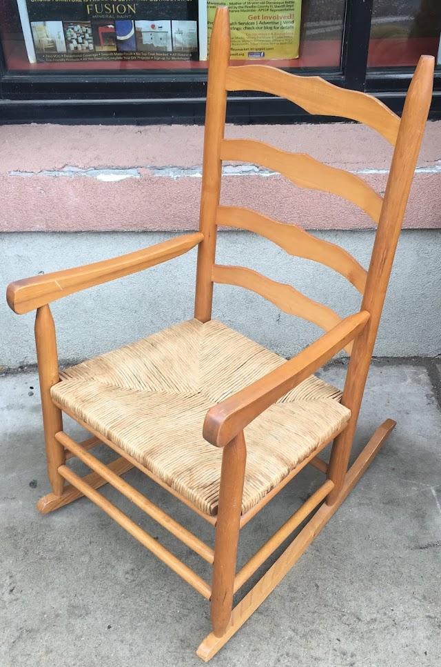 Rocker with Wicker Seat - $85