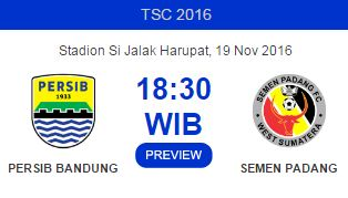 Prediksi Persib Bandung vs Semen Padang - TSC Sabtu 19 November 2016