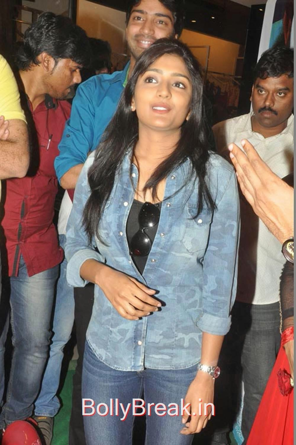 Eesha Stills in Blue Shirt, Eesha Hot Pics from Bandipotu Movie Promotions