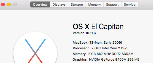 Upgrade Older MacBook OS X 10.6.8 to El Capitan 10.11.6 in Stages