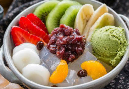 Dessert Kacang Merah Dengan Aiskrim