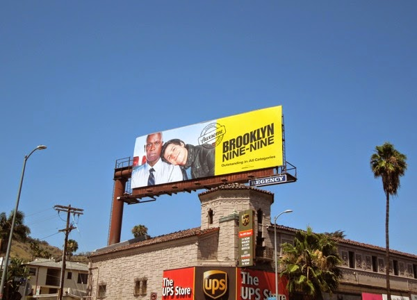 Brooklyn Nine-Nine Awesome Emmy 2014 billboard