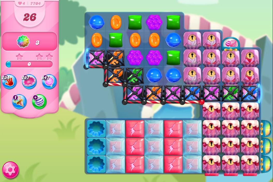 Candy Crush Saga level 7704
