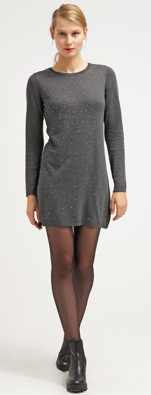 Robe pull grise Dorothy Perkins