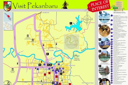 Peta Wisata Kota Pekanbaru - Tourism Map of Pekanbaru City - Riau - Indonesia