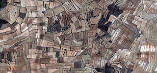 Spain fields from the air, abstract expressionist photography,Abstract Naturalism, abstract landscape, fantasy imaginary forms, abstract surrealism,