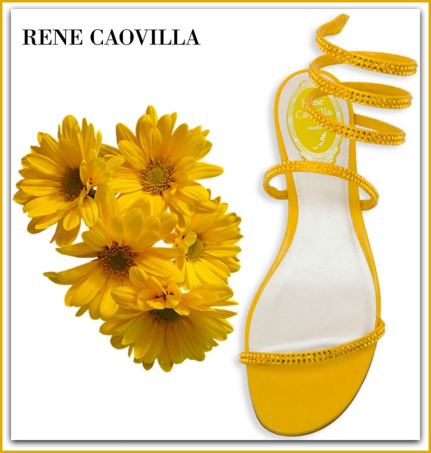Rene Caovilla Cleopatra Snake Wrap Flat Sandals