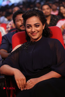 Nithya Menon Latest Stills at at Janatha Garage Movie Audio Launch  0078