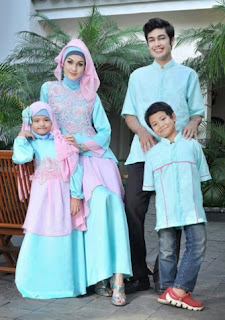 Model baju muslim sarimbit brokat