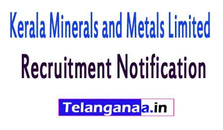 Kerala Minerals and Metals LimitedKMML Recruitment Notification 2017