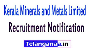 Kerala Minerals and Metals LimitedKMML Recruitment Notification 2017
