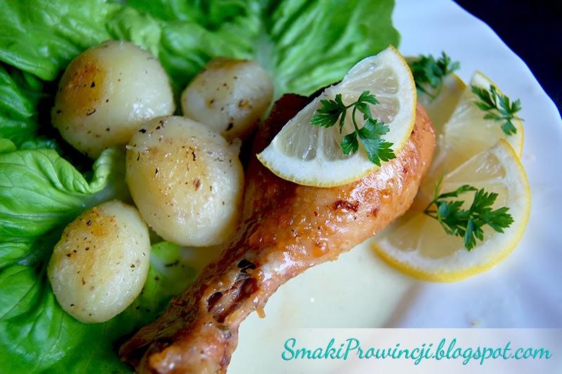 kurczak w sosie cytrynowym - przepis - Smaki Prowincji