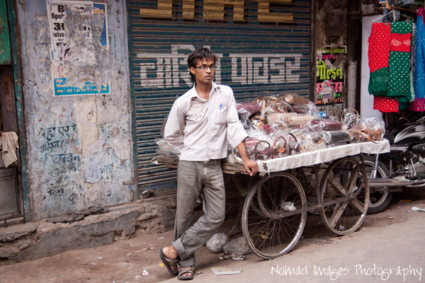 street seller on the streets of india