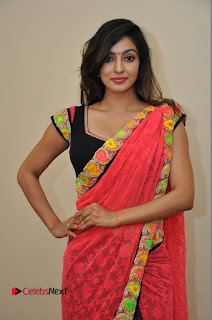 Actress Vaibhavi Joshi Pictures in Red Saree at Guntur Talkies 2 Movie Opening  0052.JPG
