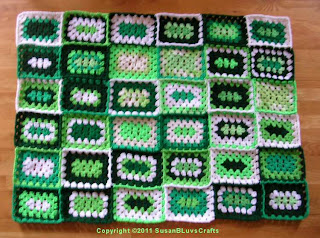 granny rectangles - 36 joined