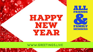 New Greetings in English Year 2018 celebration
