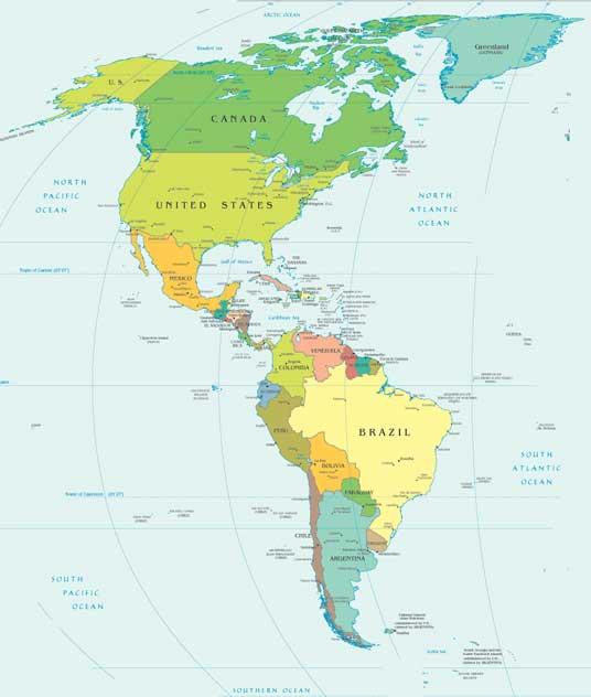 América | Mapas Geográficos da América