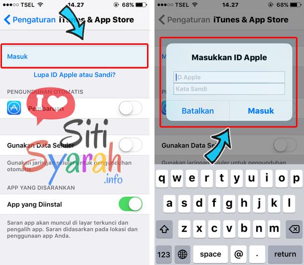 cara mengganti akun apple id di iphone 6