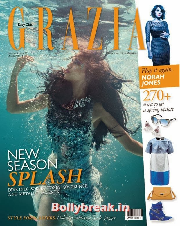 Angela Jonson on Grazia cover, The Hottest cover girls of 2013